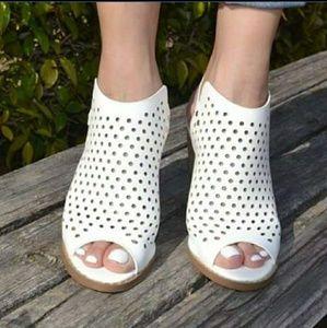 Women's Slingback Cut Out Peep Toe Bootie